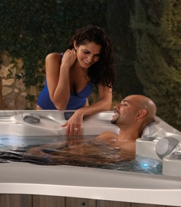 Couple Hot Tub